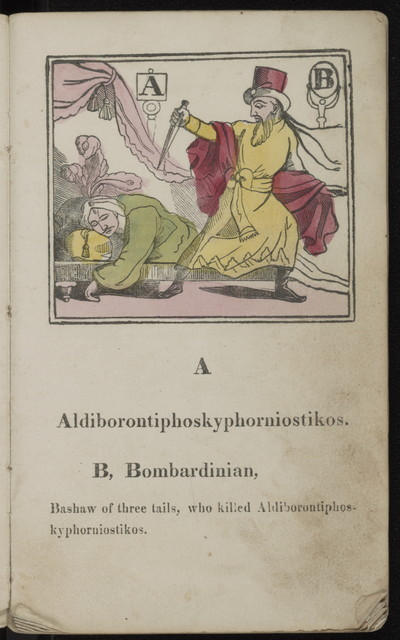 Aldiborontiphoskyphorniostikos : a round game for merry parties, with rules for playing the game.