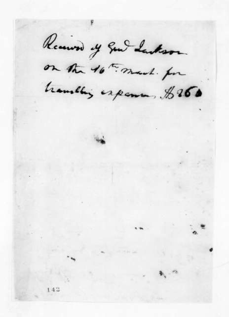 Andrew Jackson, March 16, 1825