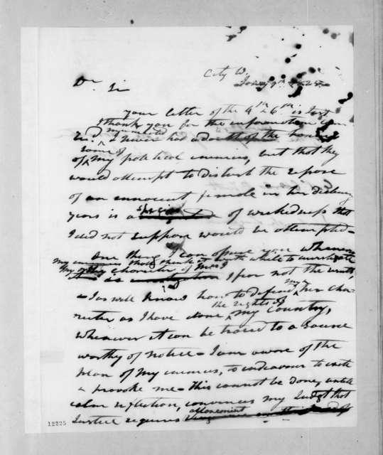 Andrew Jackson to Charles Pendleton Tutt, January 9, 1825