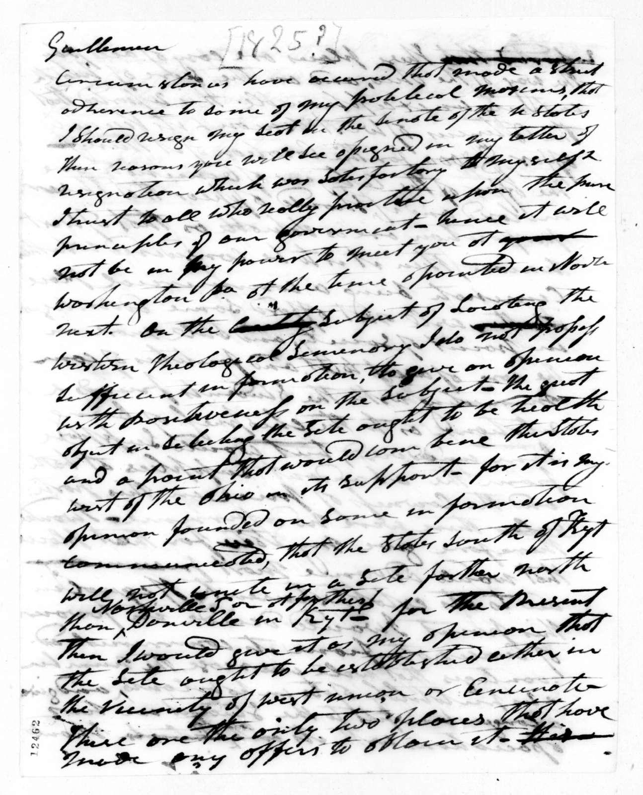 Andrew Jackson to Congress