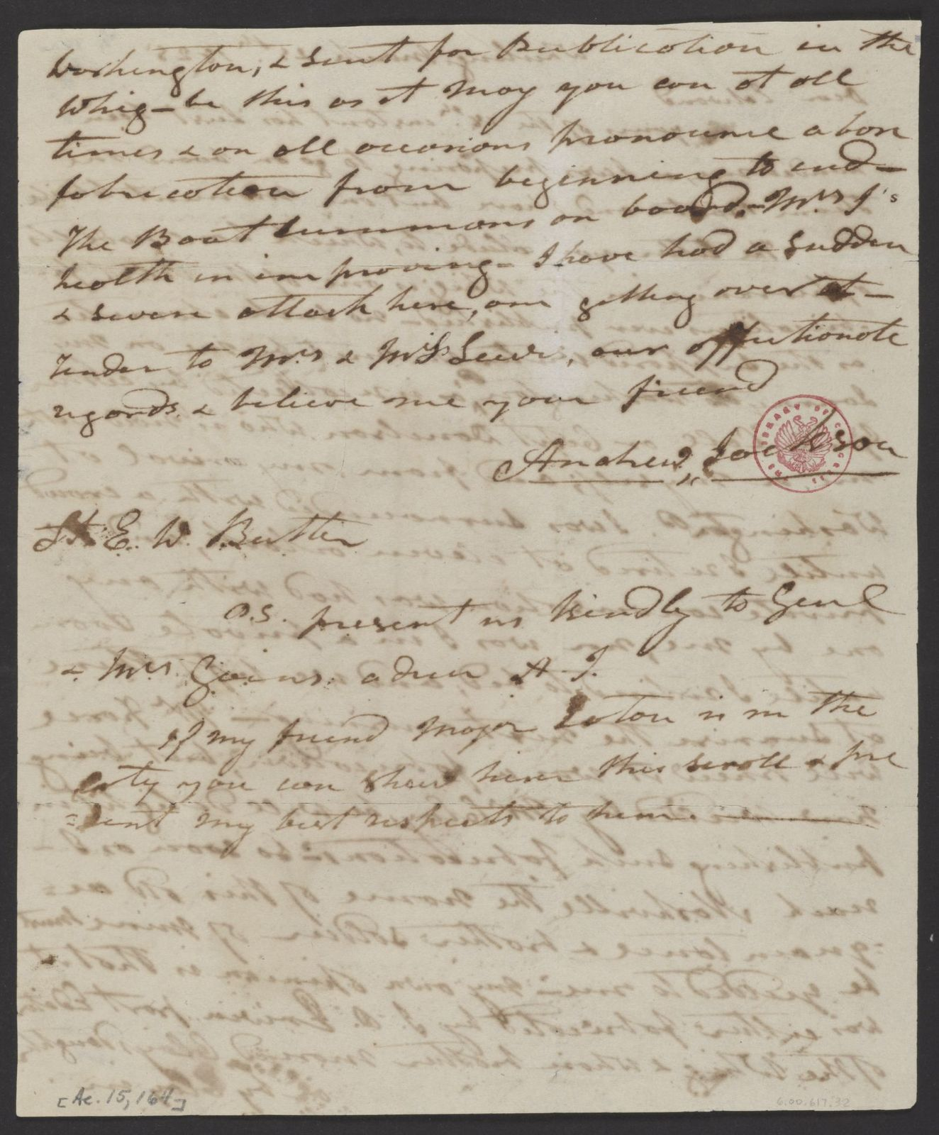 Andrew Jackson to Edward G. W. Butler , March 25, 1825