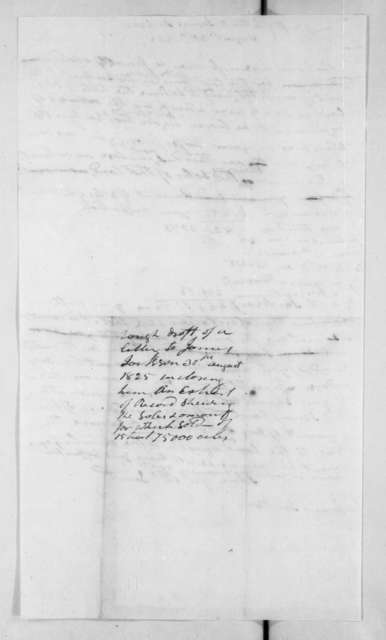Andrew Jackson to James Jackson, August 30, 1825