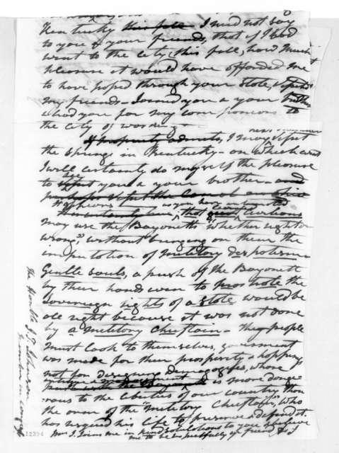 Andrew Jackson to John Telemachus Johnson, October 30, 1825
