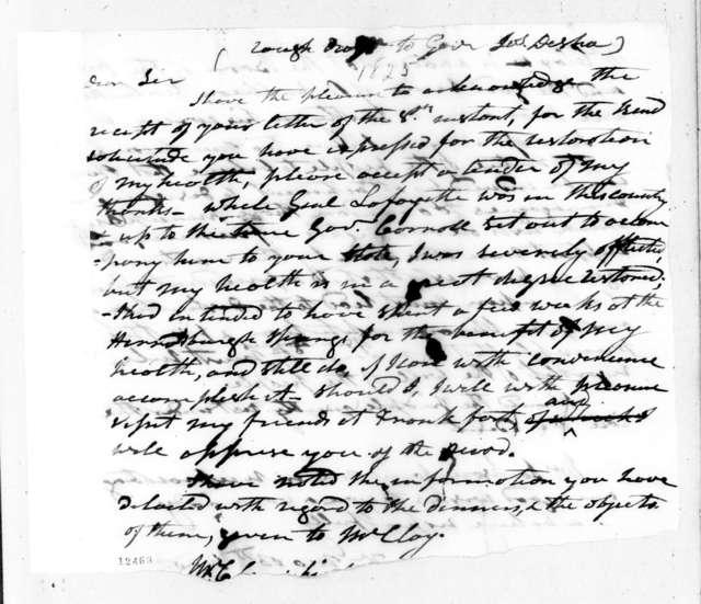Andrew Jackson to Joseph Desha