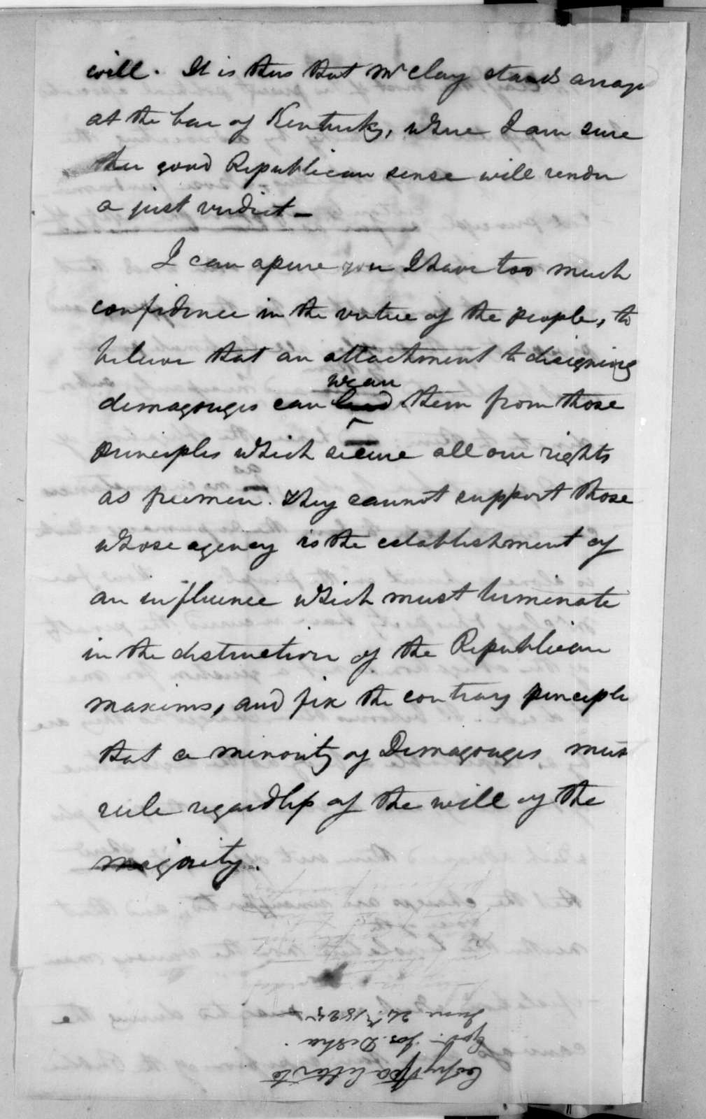 Andrew Jackson to Joseph Desha, June 24, 1825
