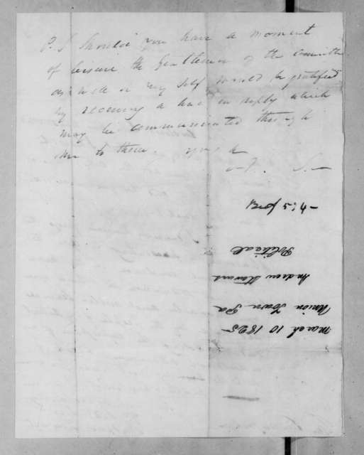 Andrew Stewart to Andrew Jackson, March 10, 1825