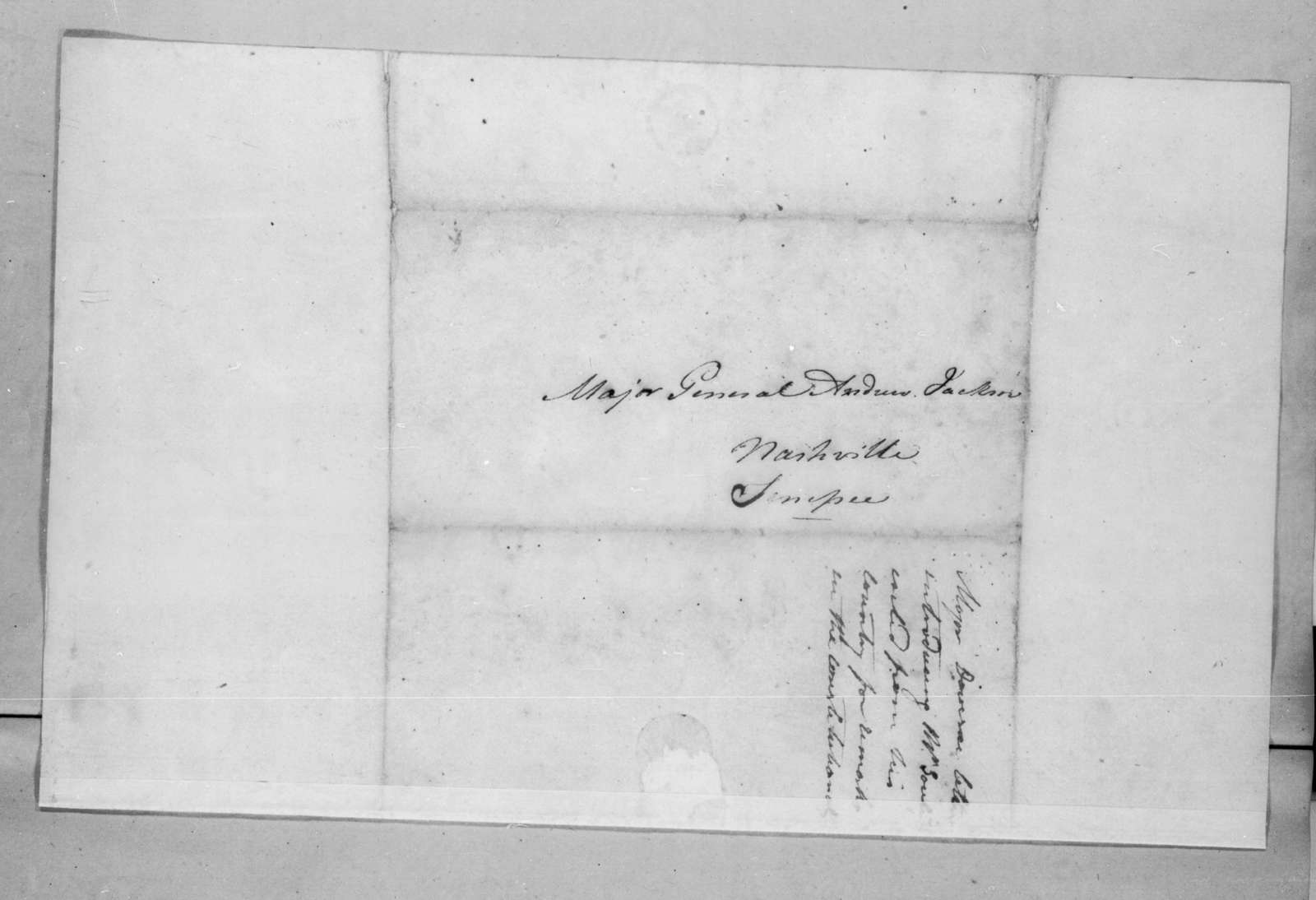 Auguste Genevieve Valentin Davezac to Andrew Jackson, April 11, 1825