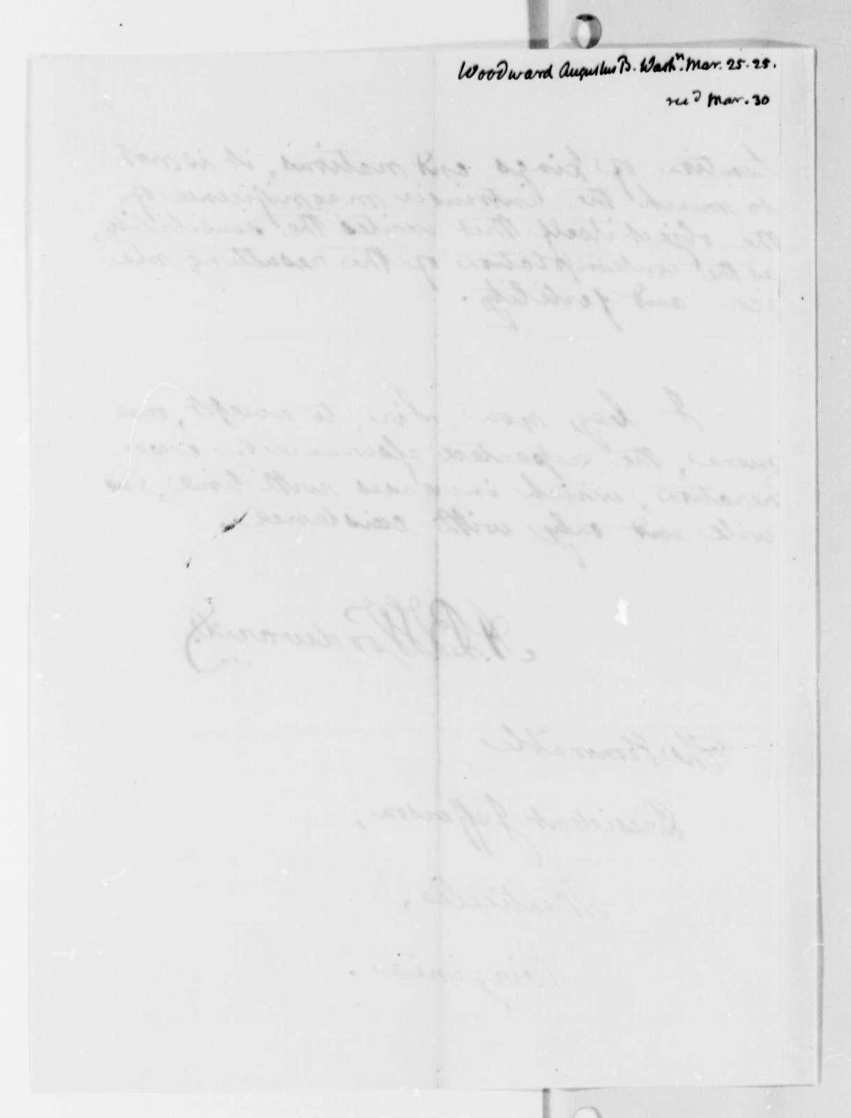 Augustus B. Woodward to Thomas Jefferson, March 25, 1825