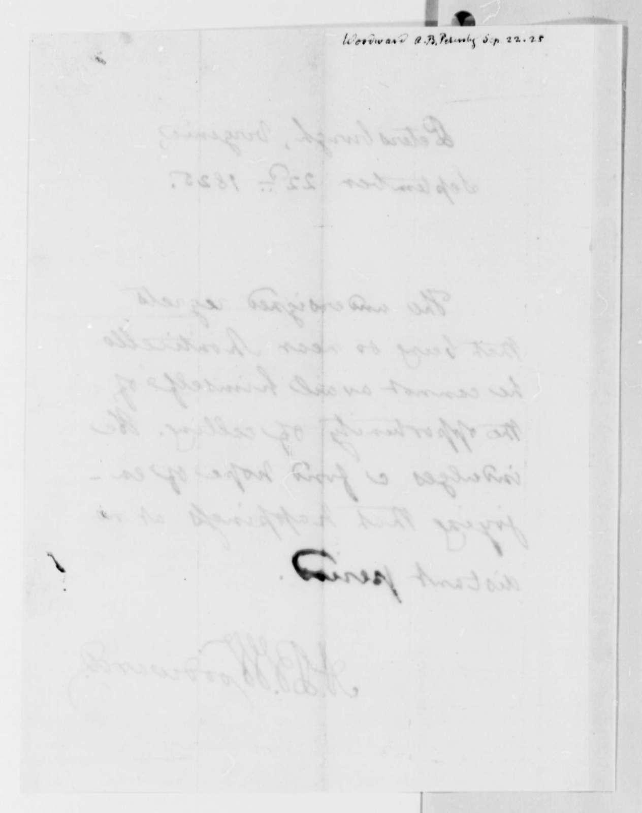 Augustus B. Woodward to Thomas Jefferson, September 22, 1825