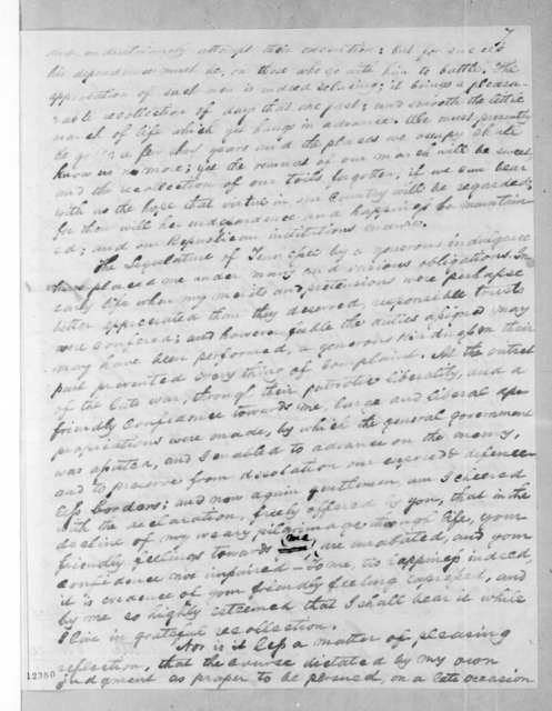 Benjamin Franklin Currey to Andrew Jackson Donelson, October 12, 1825