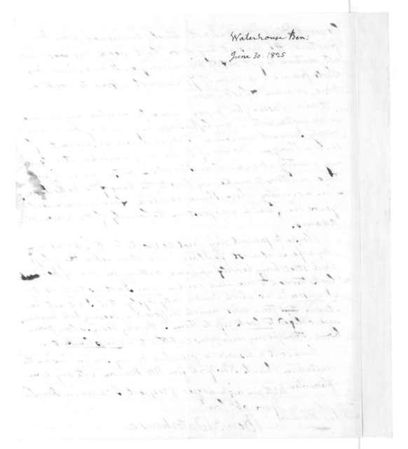 Benjamin Waterhouse to James Madison, June 30, 1825.