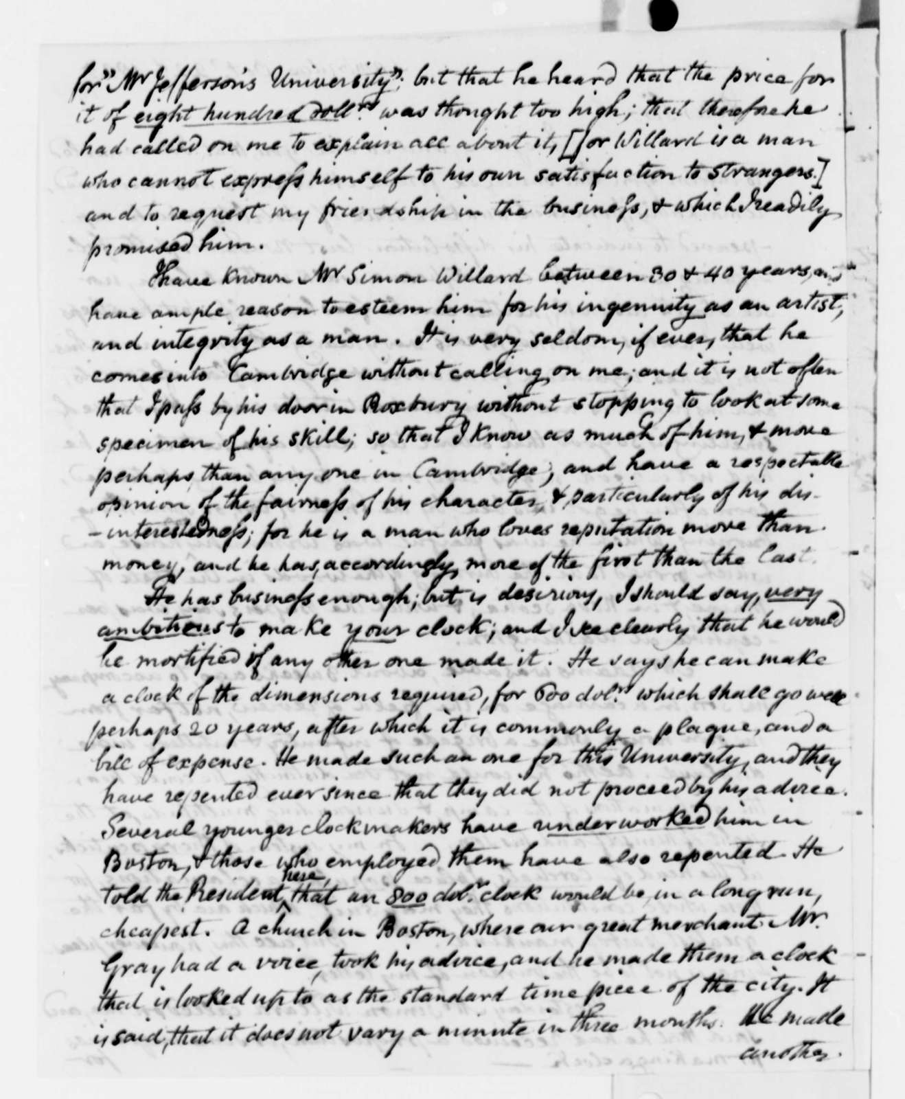 Benjamin Waterhouse to Thomas Jefferson, October 22, 1825