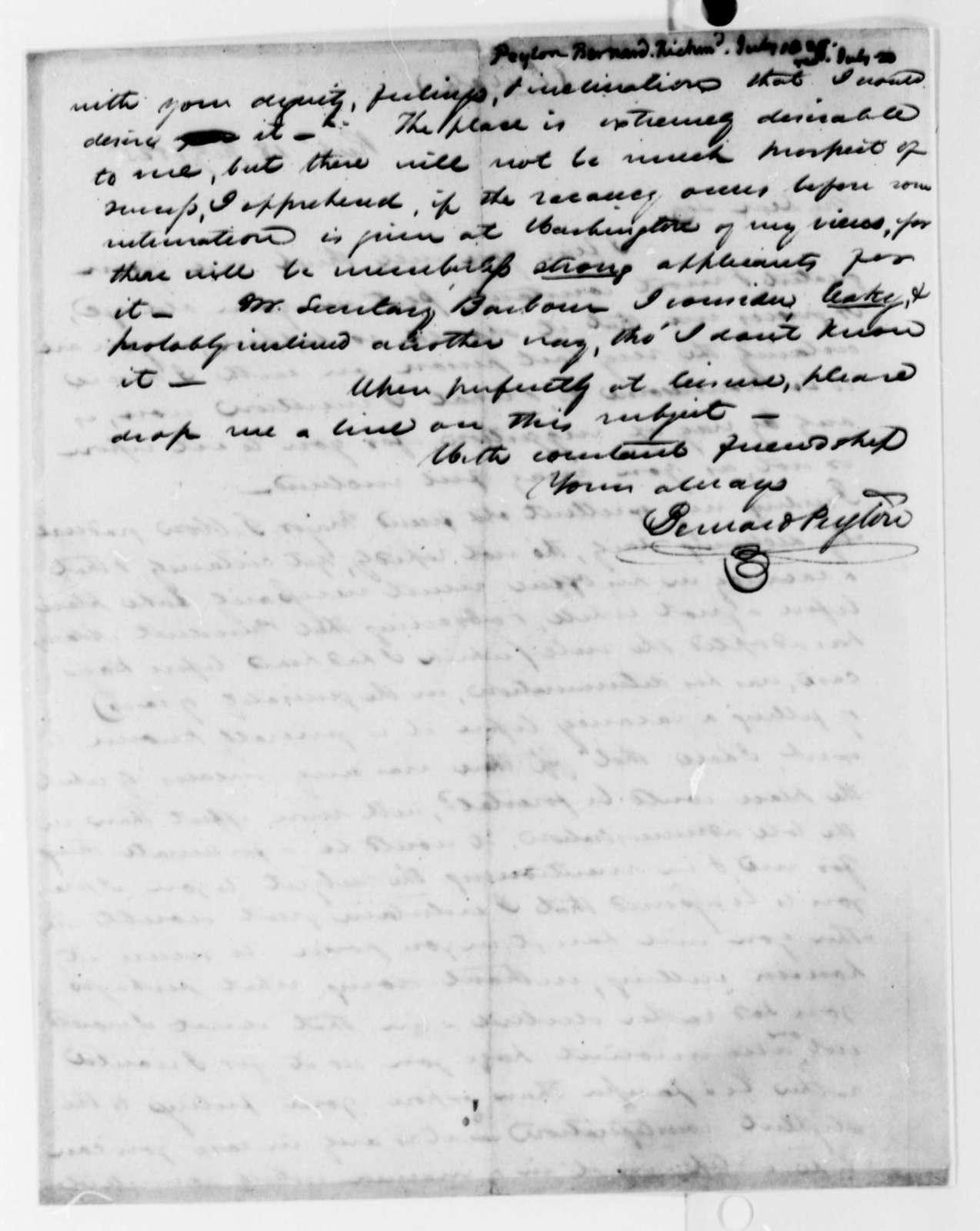 Bernard Peyton to Thomas Jefferson, July 18, 1825