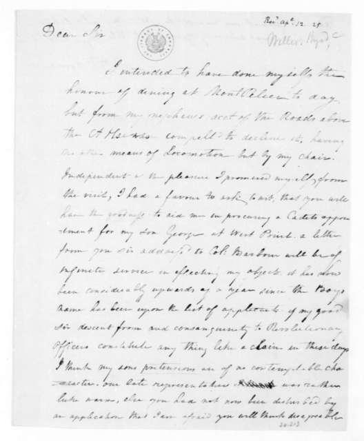 Byrd C. Willis to James Madison, April 7, 1825.