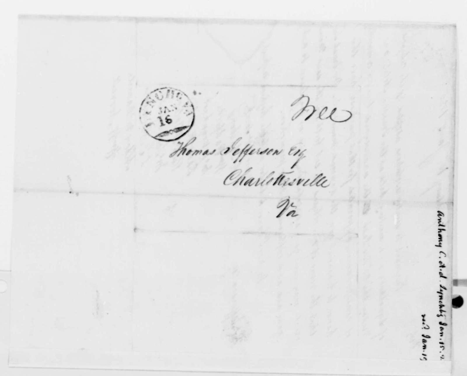 C. Anthony, et al to Thomas Jefferson, January 15, 1825