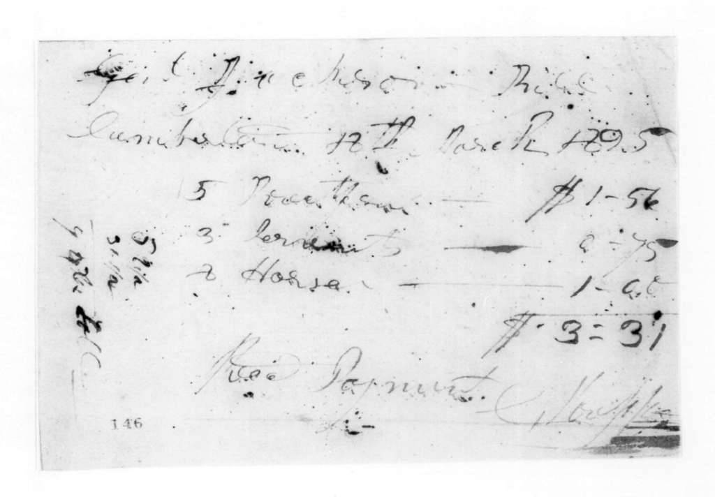 C. Koepper to Andrew Jackson, March 18, 1825