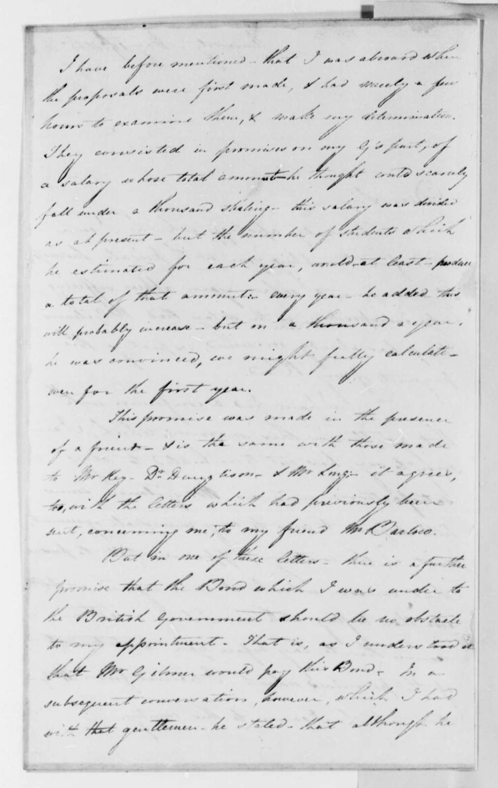 Charles Bonnycastle to Thomas Jefferson, May 19, 1825