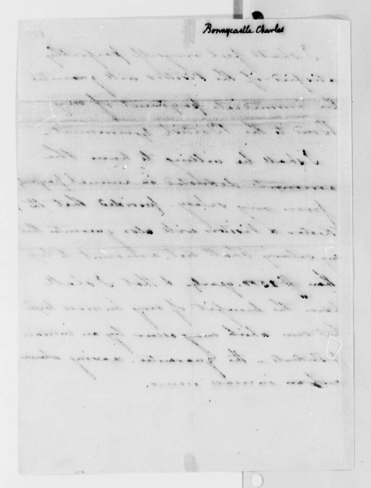 Charles Bonnycastle to University of Virginia, September 8, 1825, Note on Bond