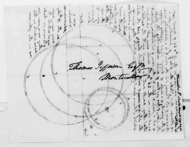 Charles Meriwether to Thomas Jefferson, September 24, 1825, with Diagram