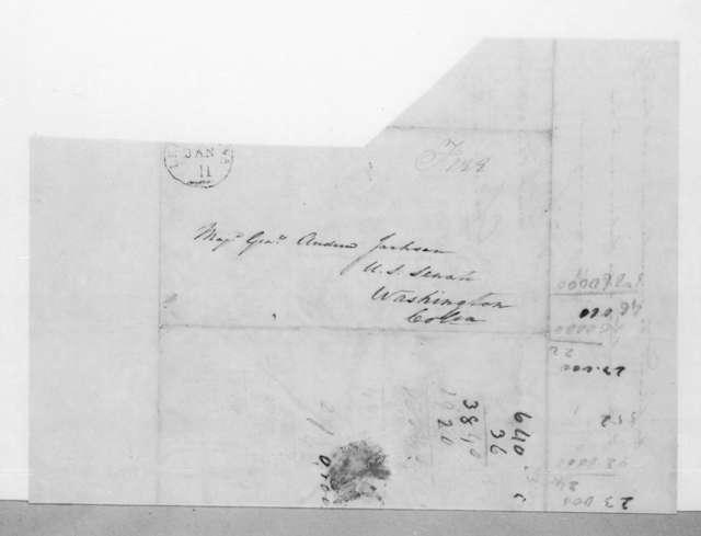 Charles Pendleton Tutt to Andrew Jackson, January 9, 1825