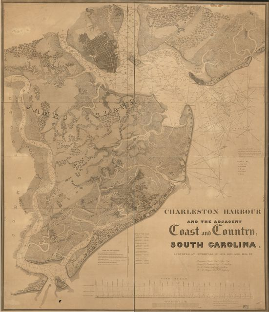 Charleston Harbour and the adjacent coast and country, South Carolina : surveyed at intervals in 1823, 1824, and 1825 /