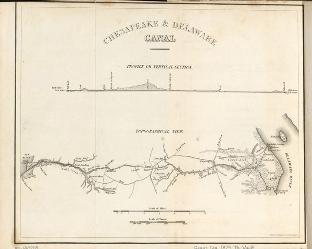 Chesapeake & Delaware Canal, topographical view /