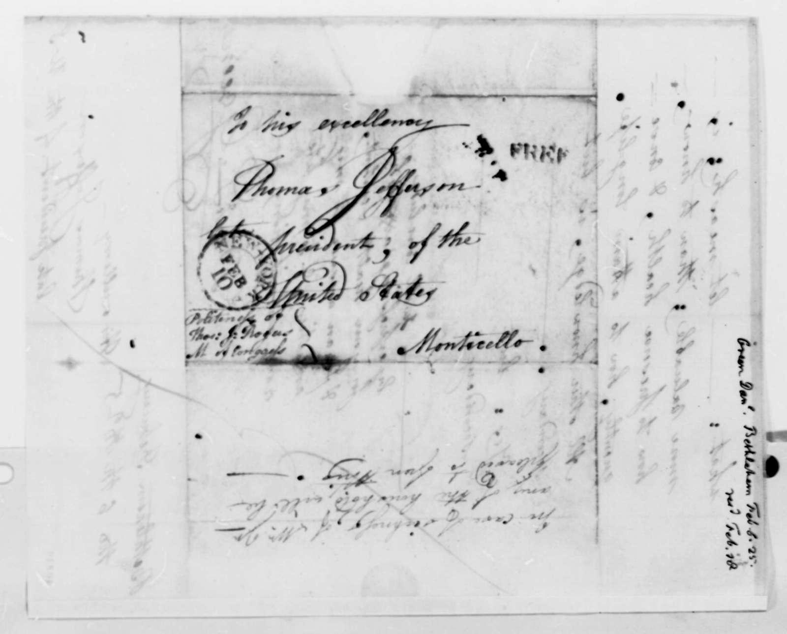 Daniel L. Green to Thomas Jefferson, February 6, 1825