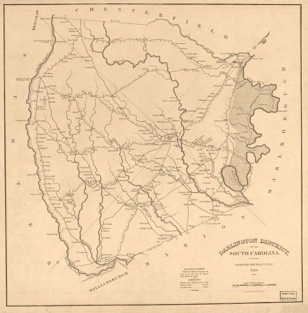 Darlington District, South Carolina : ; engd by H. S. Tanner & Assistants.
