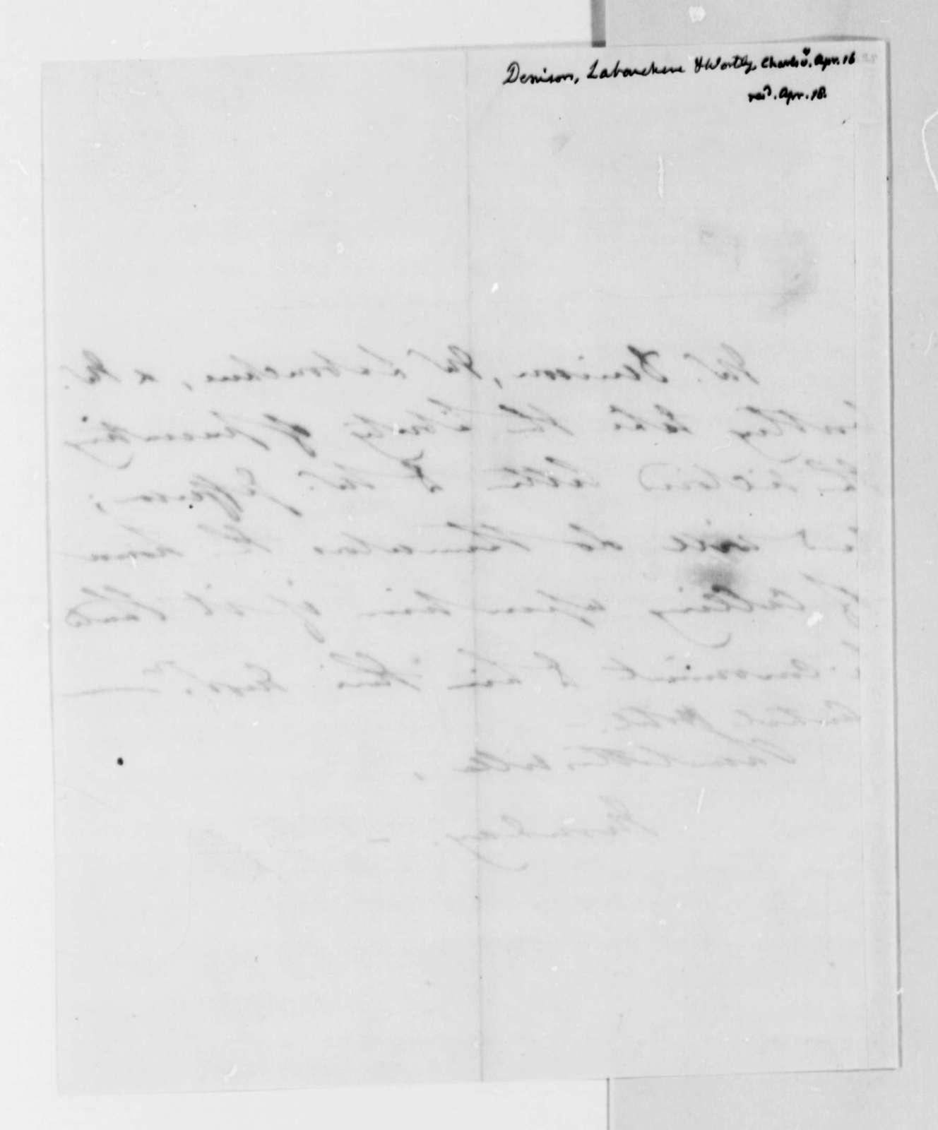 Denison-Laboucherie & Wortley to Thomas Jefferson, April 18, 1825