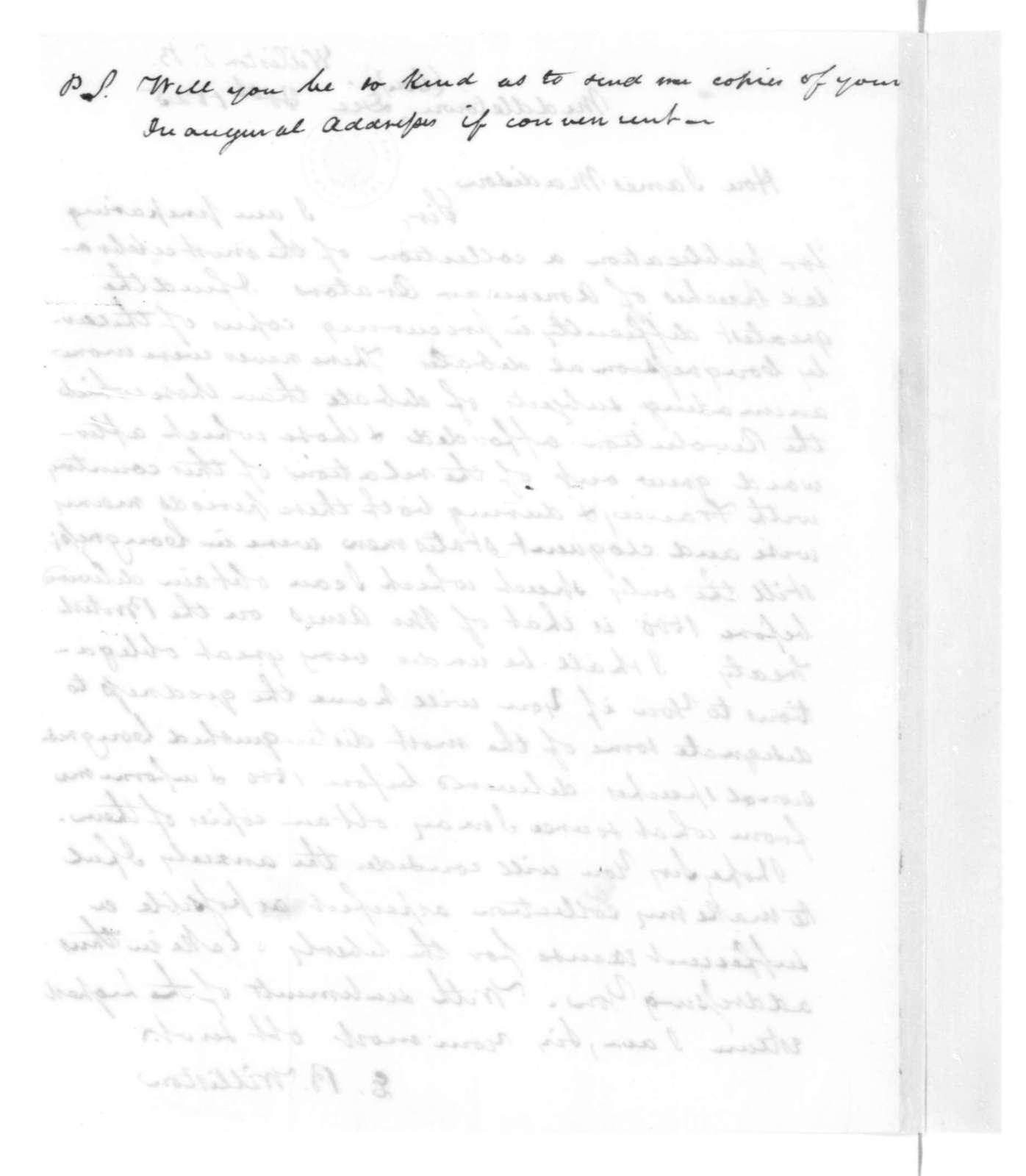 E. B. Williston to James Madison, December 30, 1825.
