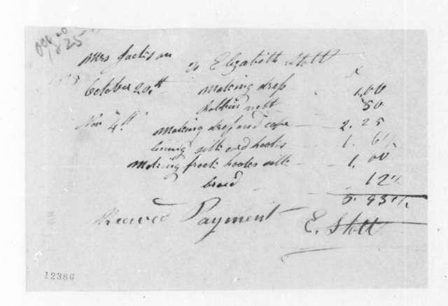 E. Stott to Rachel Donelson Jackson, October 20, 1825