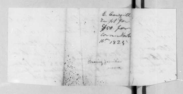 Elisha Coughill, November 16, 1825