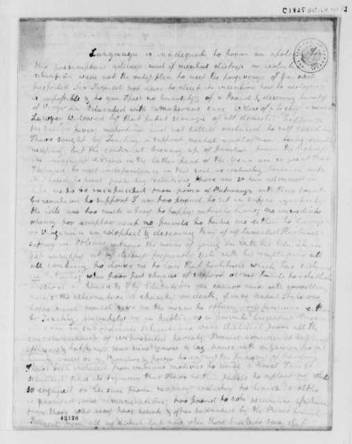 Eliza Kello Flournoy to Thomas Jefferson, October 24, 1825