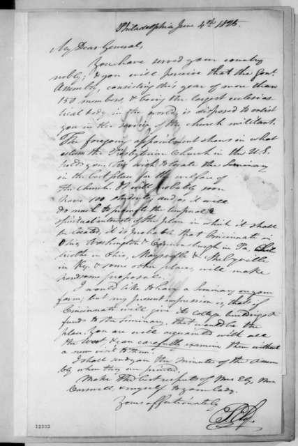 Ezra Stiles Ely to Andrew Jackson, June 4, 1825