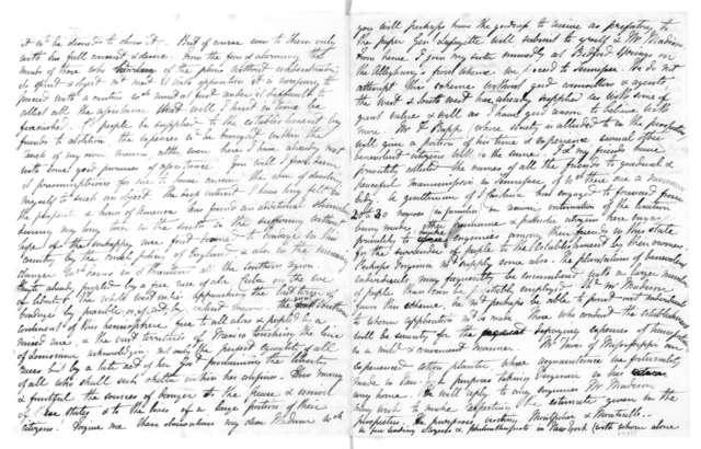 Frances Wright to Dolley Payne Madison, July 26, 1825.