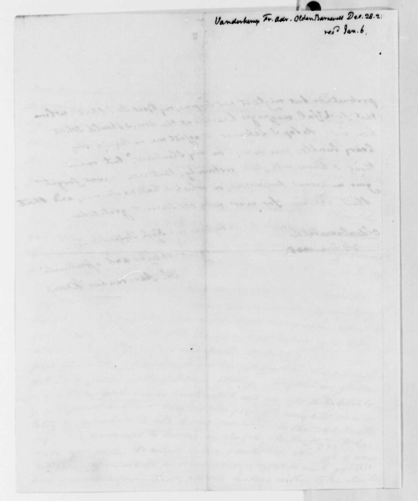 Francis A. van der Kemp to Thomas Jefferson, December 28, 1825