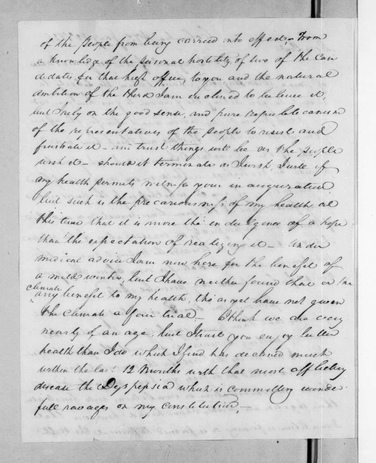 Francis Preston to Andrew Jackson, January 22, 1825