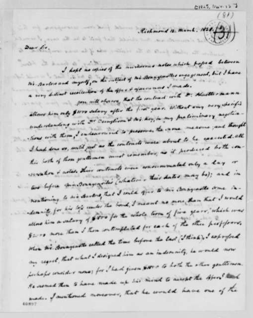 Francis W. Gilmer to Thomas Jefferson, March 12, 1825