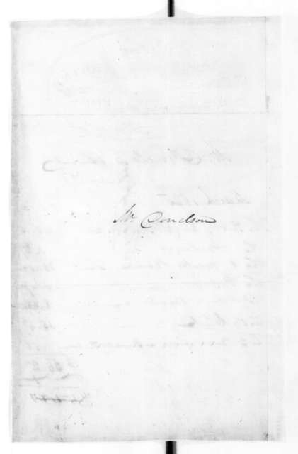 Franklin House Hotel to Andrew Jackson Donelson, March 10, 1825