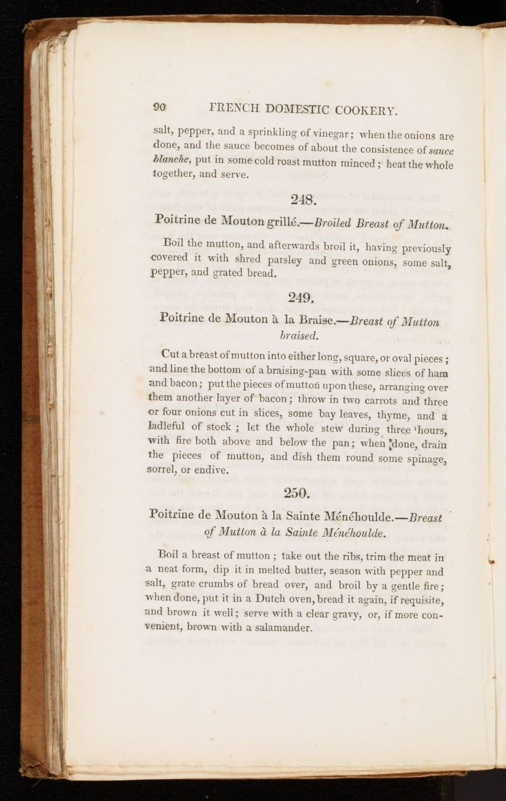 French domestic cookery, combining economy with elegance, and adapted to the use of families of moderate fortune.