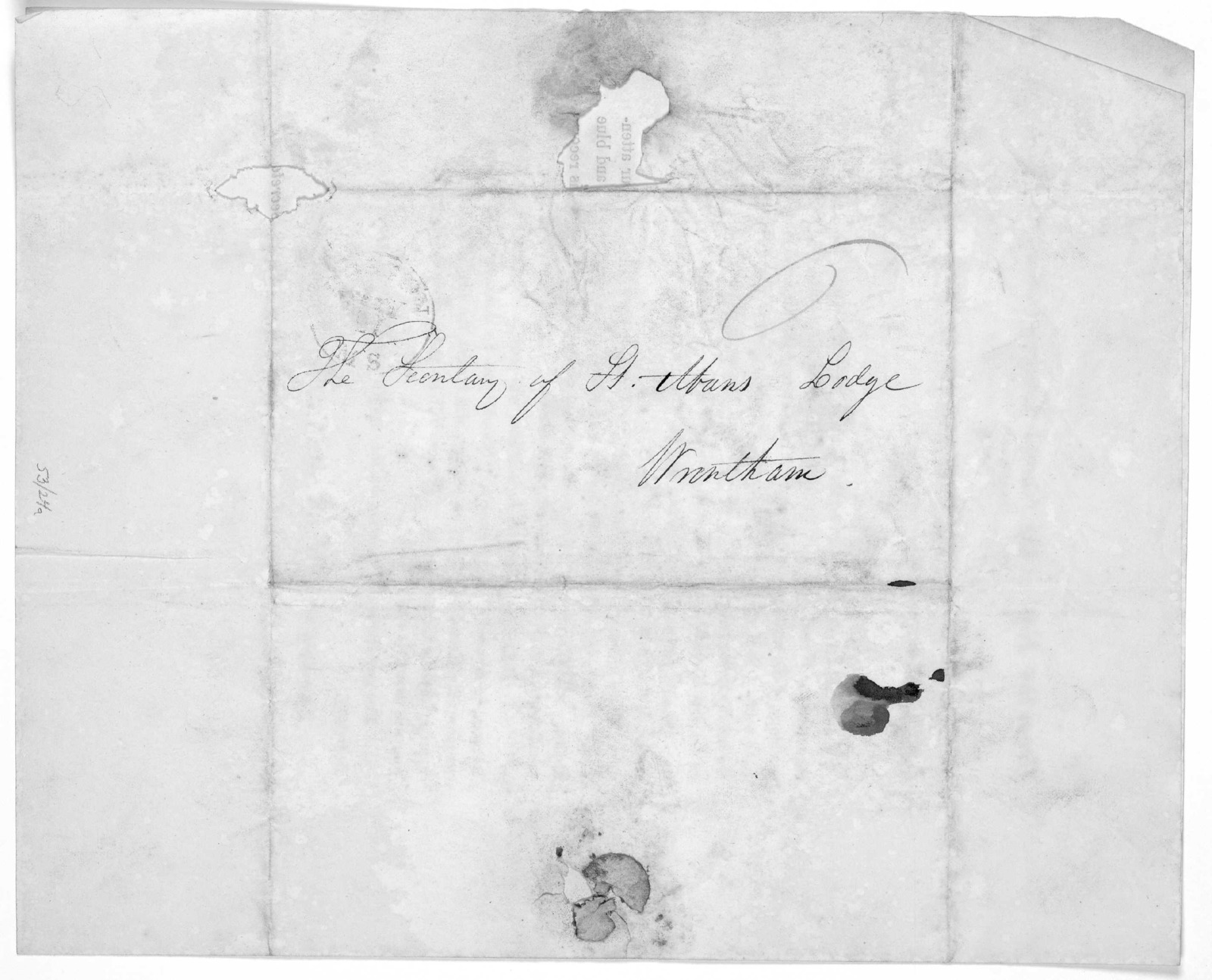 From the East of the Grand Lodge of Massachusetts. This day of A. L. 5825. To the R. W. Master, W. Wardens and members of Lodge, the M, W. Grand Master sends greetings. [Regarding the laying of the corner stone of the Bunker Hill monument] [n. p
