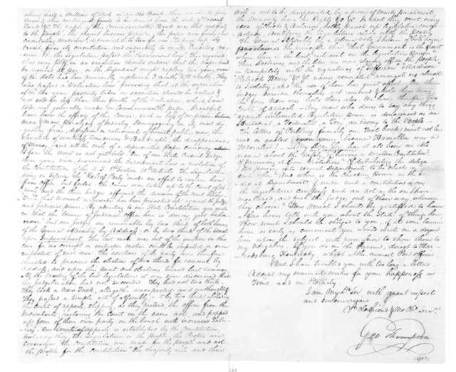 George Thompson to James Madison, June 3, 1825.