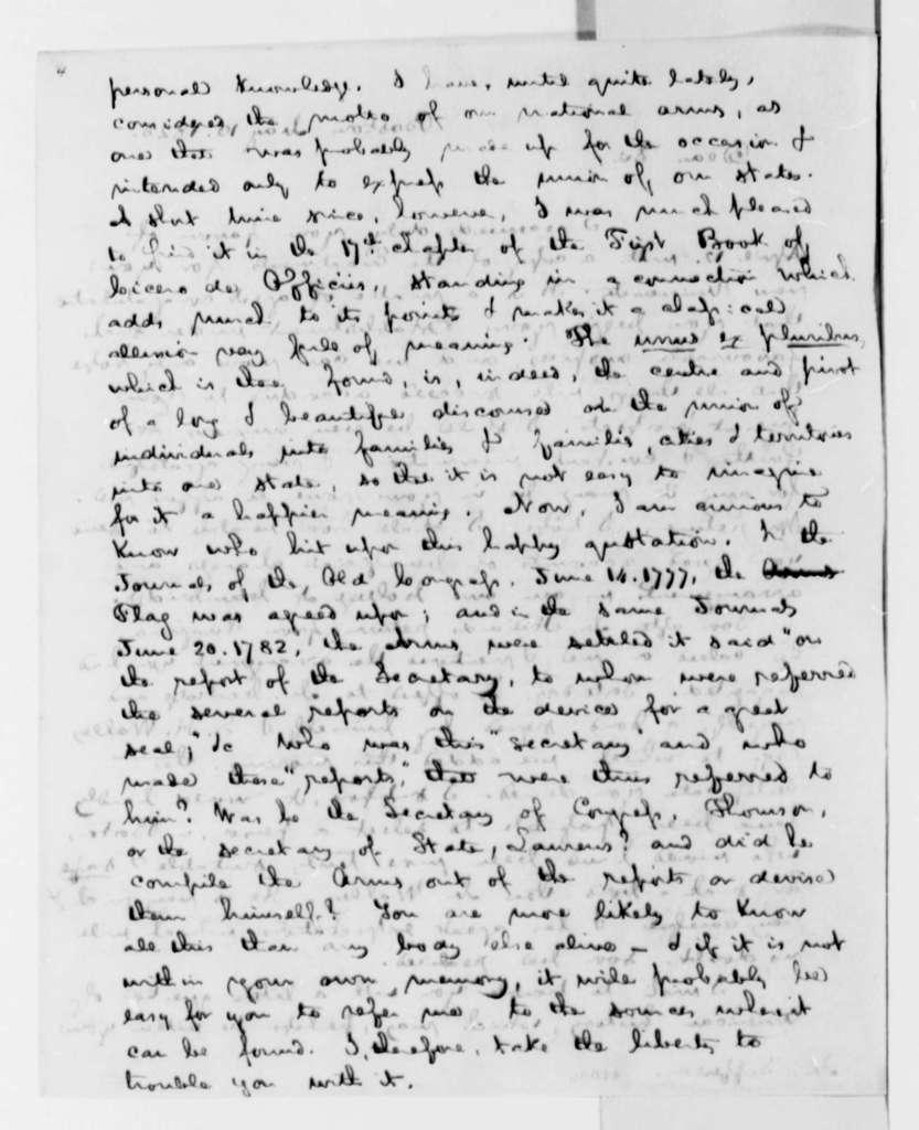 George Ticknor to Thomas Jefferson, May 10, 1825