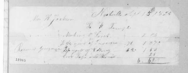 Harriett Temple to Rachel Donelson Jackson, September 15, 1825