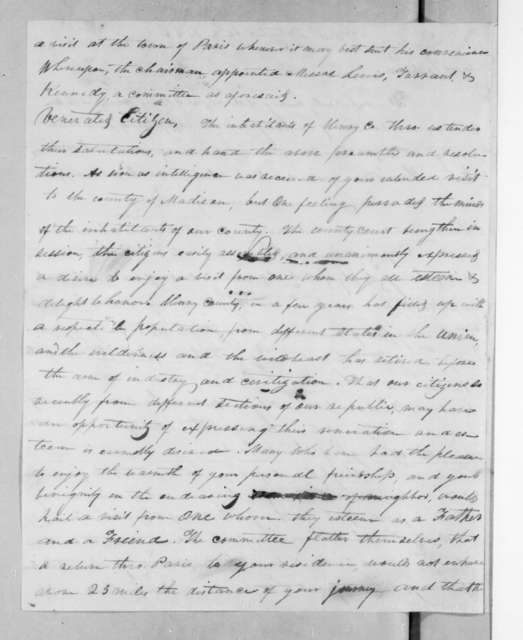 Henry County Citizens to Andrew Jackson, September 17, 1825