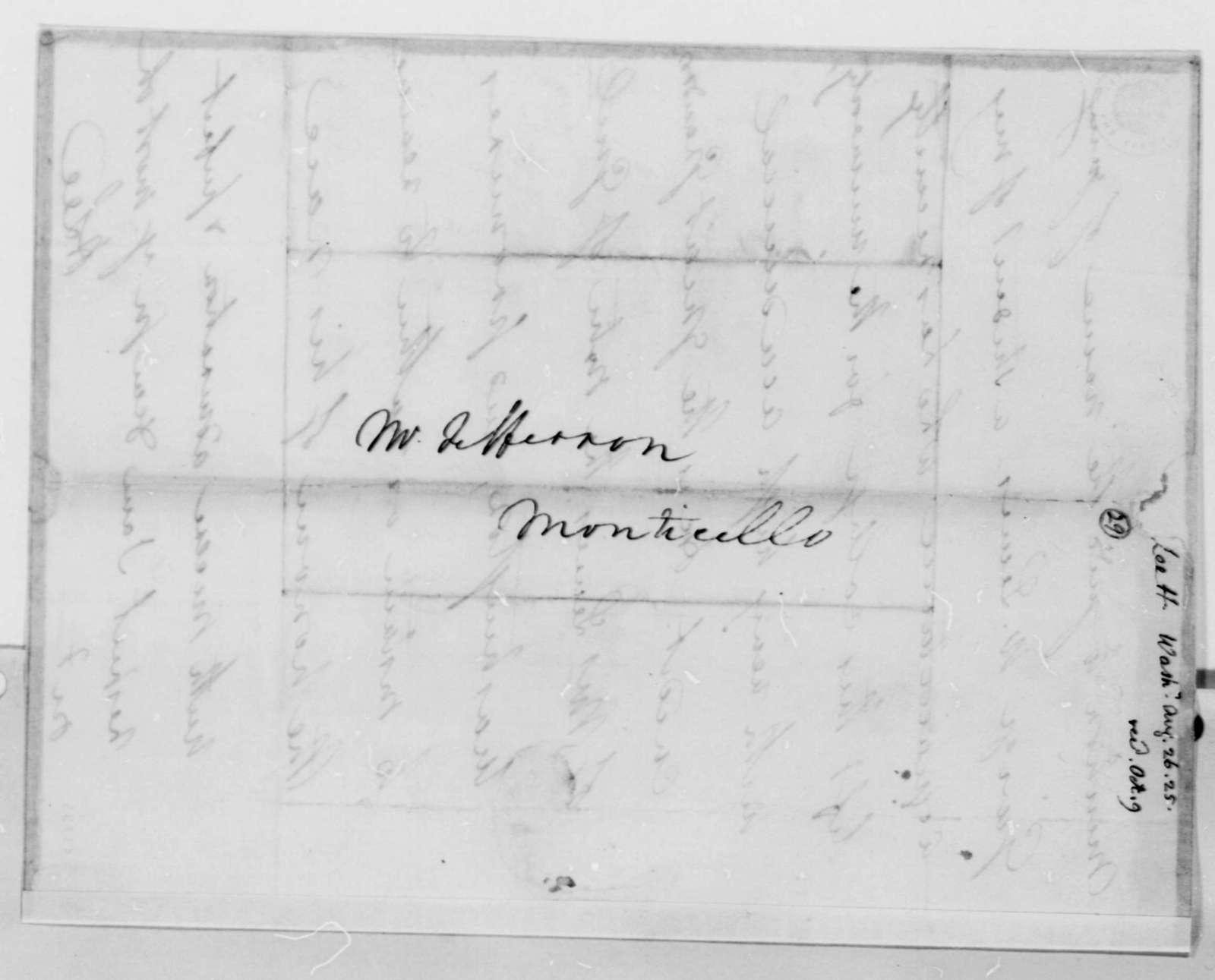 Henry Lee, Jr. to Thomas Jefferson, August 26, 1825