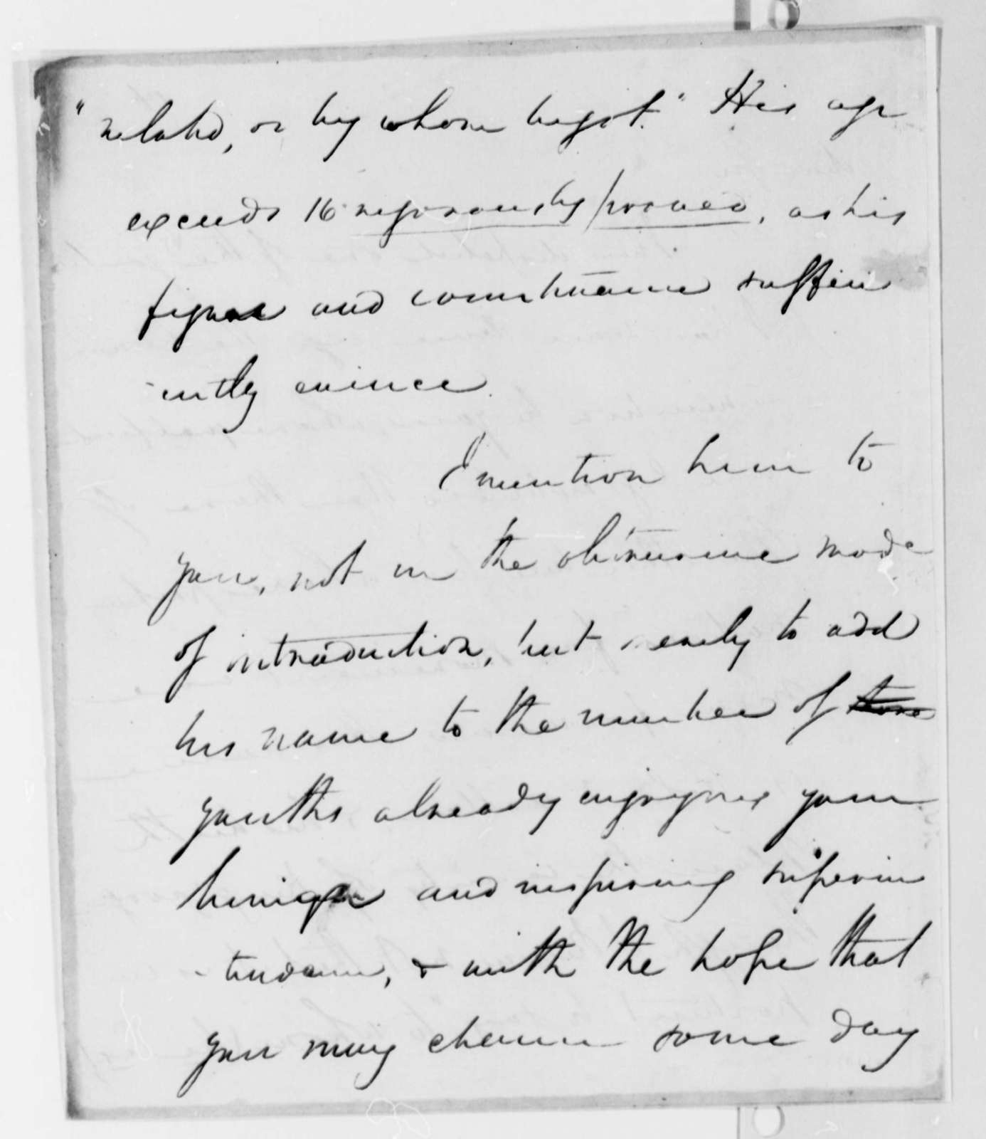 Henry Lee, Jr. to Thomas Jefferson, July 28, 1825