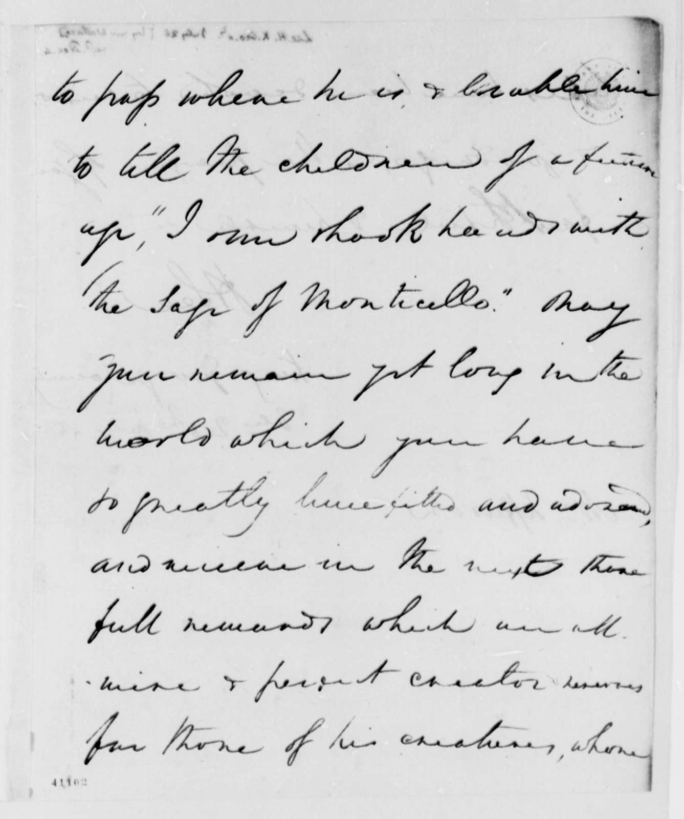 Henry Lee, Jr. to Thomas Jefferson, July 28, 1825