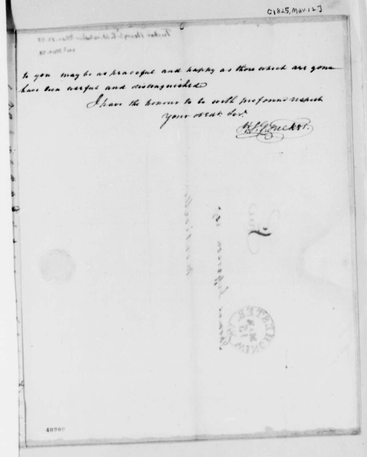Henry St. George Tucker to Thomas Jefferson, March 12, 1825