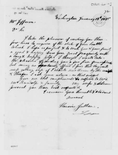 Honore Julien to Thomas Jefferson, January 14, 1825
